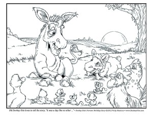 Coloring Page - It Was a Day Like No Other