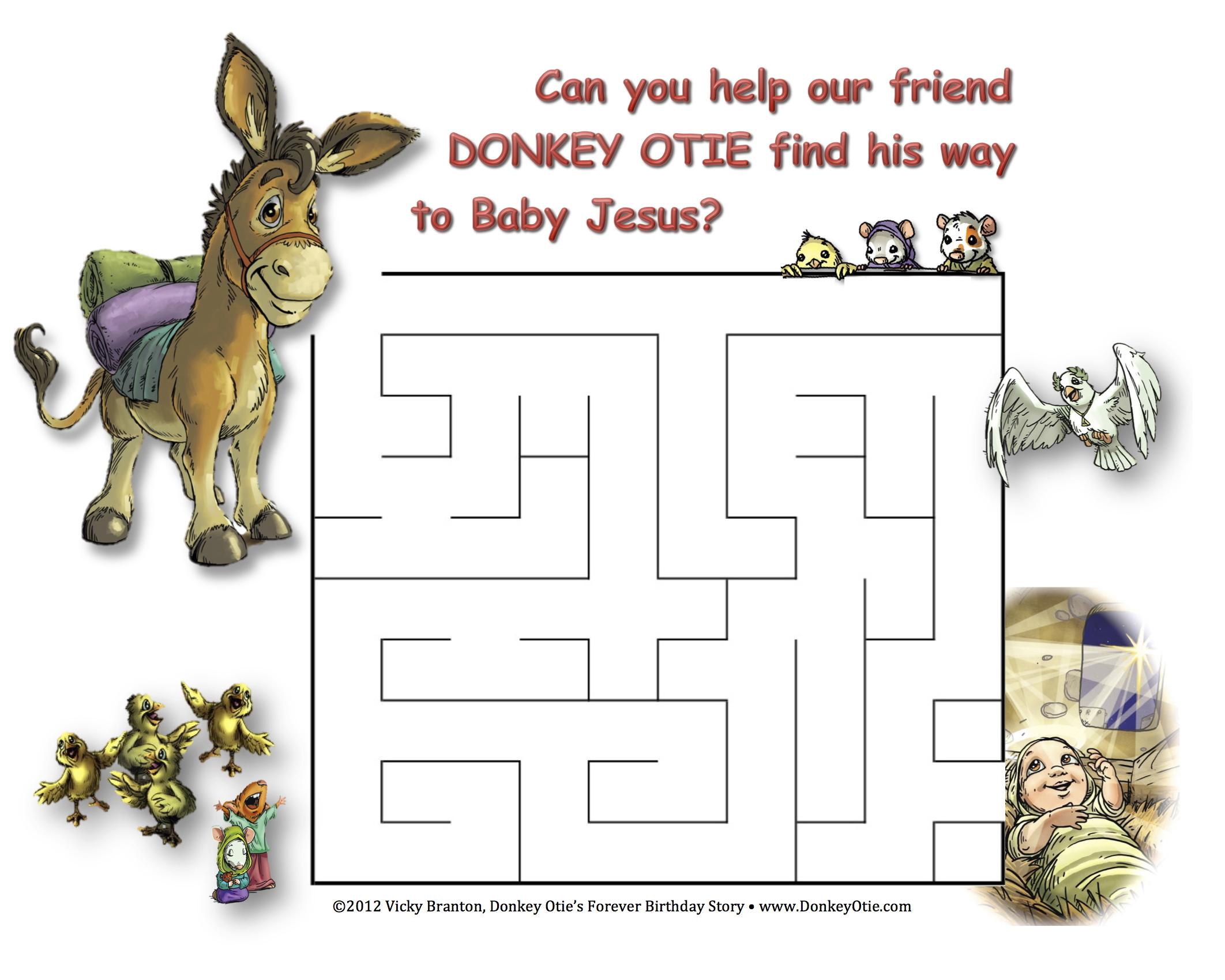 MAZE Donkey Otie to Jesus
